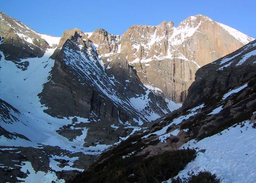 Skiing Longs Peak